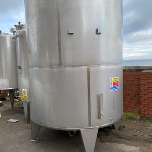 10000_Litre_SS_Stainless_Steel_Storage_tank_Vessel_vertical_exterior